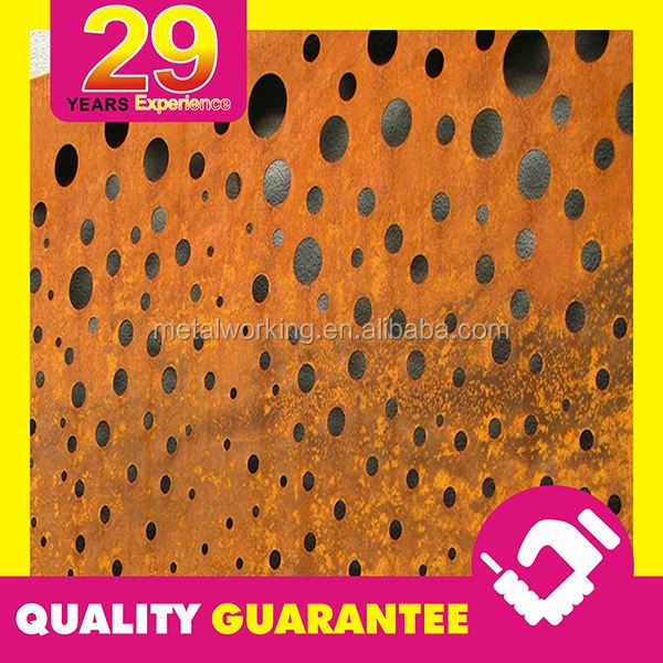 Round Hole Corten Steel Cheap Sheet Metal Fence Panels with Competitive Price