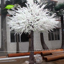 GNW BLS019-1Decorative artificial wooden tree 10ft white for wedding stage flower decoration