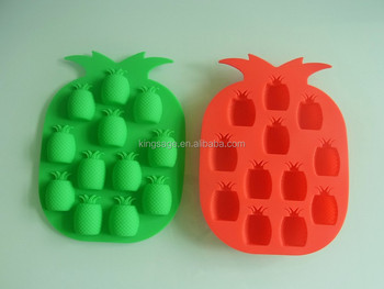 silicone ice case of pineapple shape