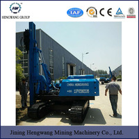 Walking system hydraulic telescopic boom pile driver type for pile driving hammer