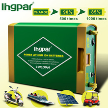 A grade cell deep cycle 2000times new energy storage lithium ion 12v 100ah battery for emergency light