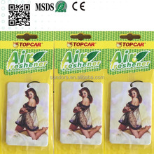 Promotional Hanging Paper New Membrane Acent Car Air Freshener