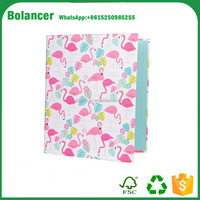 Perfect A4 A5 paper printing 2 3 6 metal clip ring binder