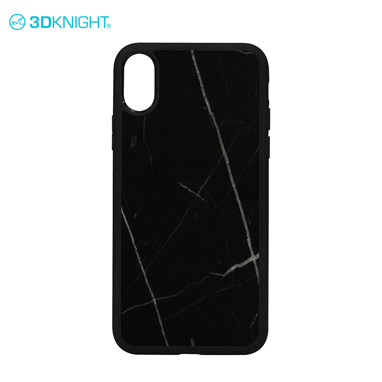 Real natural marble phone case case for iphone 8 black