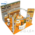 Detian Offer design exhibition stand simple design booth 6x6 exhibition booth