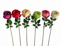 artificial Single rose real touch rose flower 90cm height handcraft flower for wedding decoration