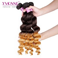 8-28 inchs grade 5A peruvian loose wave cheap ombre hair extension
