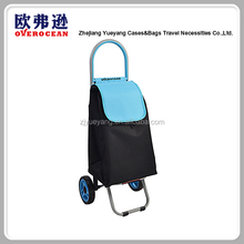Wholesale high quality 600D polyester fabric lightweight foldable shopping trolley bag