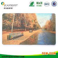 OEM photo mouse pad/ the Natural Photo Picture Insert 3D mouse pad, bottom natural rubber mouse pad