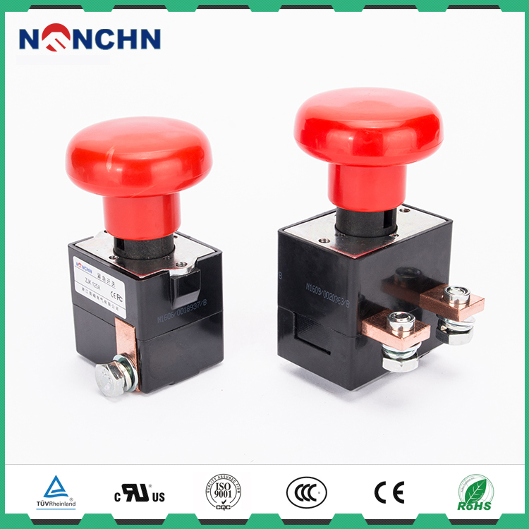NANFENG Various Sizes Automotive Push Button Control Switch Emergency Stop 80V