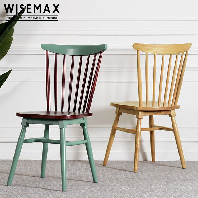 Modern Solid Wood Beach Dining Cafe Restaurant Side Windsor Chair Wood Chair,  View Solid Wood Dining Chair, WISEMAX FURNITURE Product Details From Foshan  ...