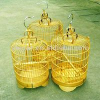 Decorative small round chinese bamboo bird cage