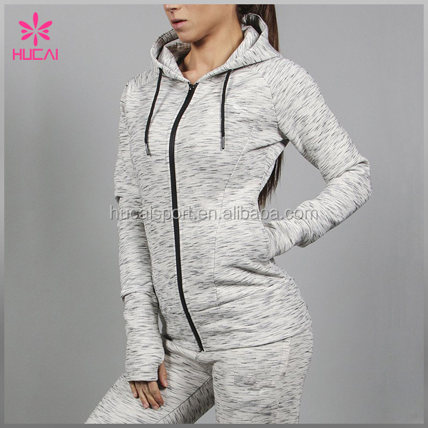High Quality Cheap Custom Cotton Spandex Plain Tracksuit Women