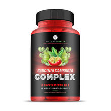 Garcinia Cambogia Complex Capsules Green Tea, Guarana, Caffeine, Cayenne, Black Pepper, Chromium, Green Coffee Bean Fat Burner