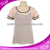 fashion clothing ladys chiffon blouse 2013 new design chiffon tops and blouse
