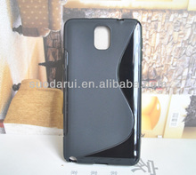 S line TPU Case for Samsung Note 3 N9000 note3 Wave Curve Gel Cover