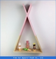 Triangle geometric wall shelf for home decoration