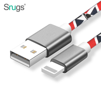 Upgraded Premium Leather Braided Aluminum Alloy Fast Charging Phone USB Cable for iPhone 7 6 6s Plus 5s 5 iPad mini