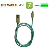 Hot selling retractable usb2.0 data cables for iphone 5s/ipad ipod mini accessories mfi certificated