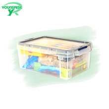 Household clear plastic Small objects storage container with lid handle