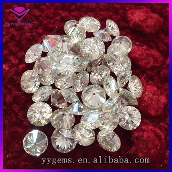 Premium Clarity EF Colour Round Brilliant Cut 8.0mm 2.0carats White Moissanite Diamond Beads For Jewelry Making