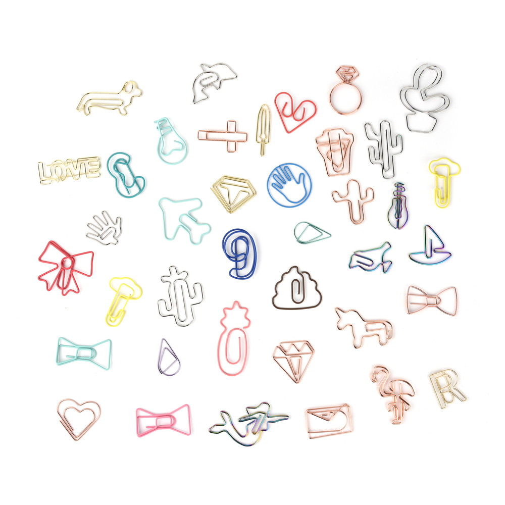 All kinds of special pvc beautiful shape metal paper <strong>clips</strong>
