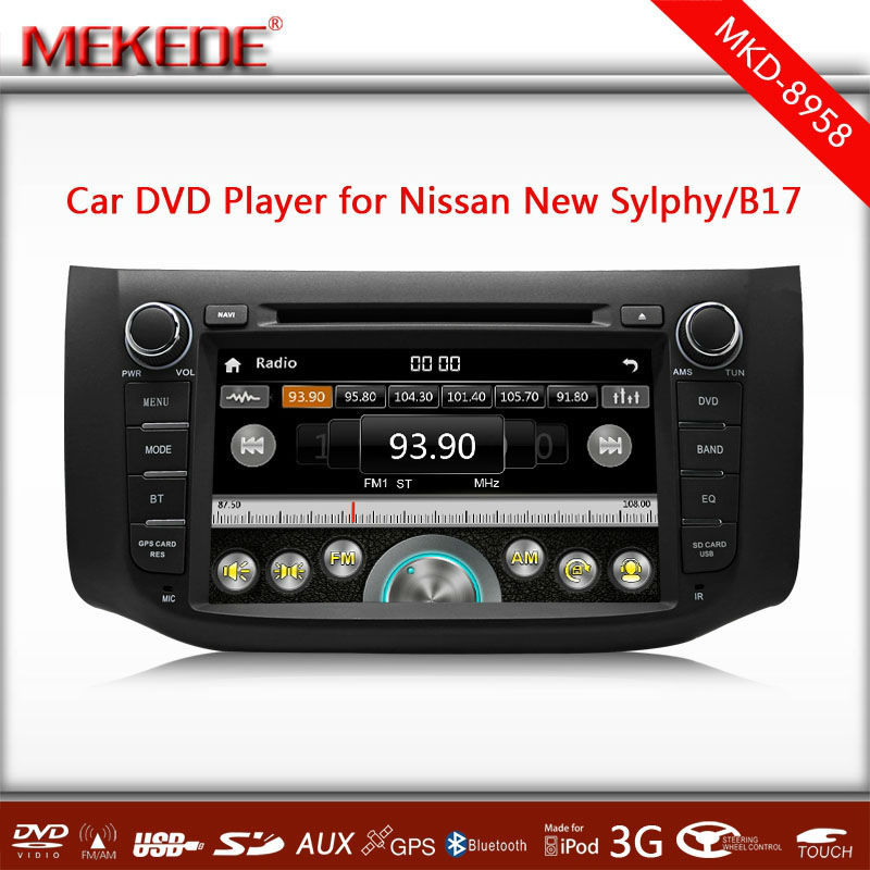 8 Inch Car autoradio Player For Nissan Sylphy/B17(2012-2014),GPS Navi,Radio,Stereo,Bluetooth,Auto Video Multimedia Player