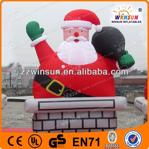 new animated trendy sitting santa claus