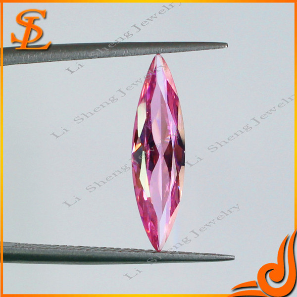 wholesale price cz Grade AAA Pink MQ shape CZ diamonds