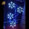 Outdoor LED snowflake motif light decorations