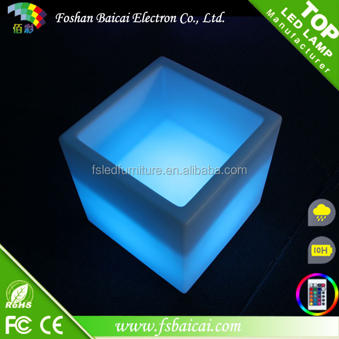 LED glowing Cube Pot LED mini Cube Led Bar Furniture