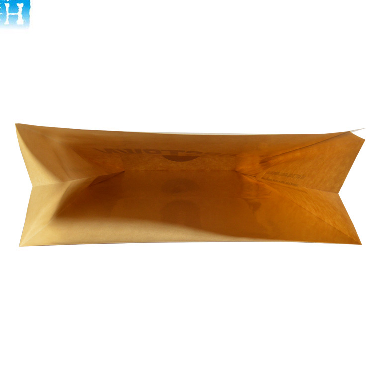 Website wholesale Food packaging sharp bottom bag Mini Custom logo Kraft paper bag for bread cookies nuts
