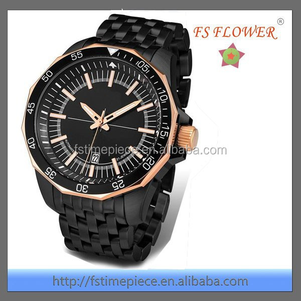 FS FLOWER - Oversized Watch Case Rich Men's Fashion Wrist Watches