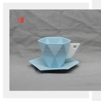 2015 Wholesale Ceramic Tea Cups and Saucers Set of 6