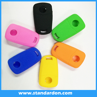 Colorful fashion hotsale silicone rubber car key cover for Opel cars