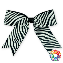 Gift Package Zebra Bows With Cheaper Price 2015 Fashion Girl Hair Bows Baby Hair Accessory For Festival