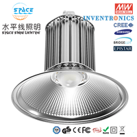 Guangdong shenzhen silver IP65 50W 100W 200W 300w smd led high bay, led hang industry light, led high bay light for supermarket