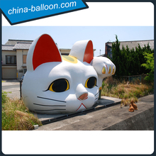 giant inflatable lucky cat head/ inflatable cartoon cat/ fortune cat