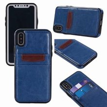 China suppliers new products blue PU leather mobile cell back case phone cover case for iphone X case