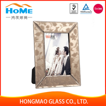 Nice quality crystal glass picture frame /glass photo frame wholesale