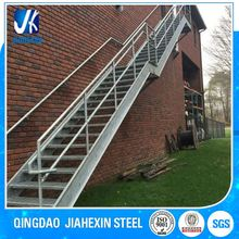 Galvanized steel railings Stairs can be interior or exterior