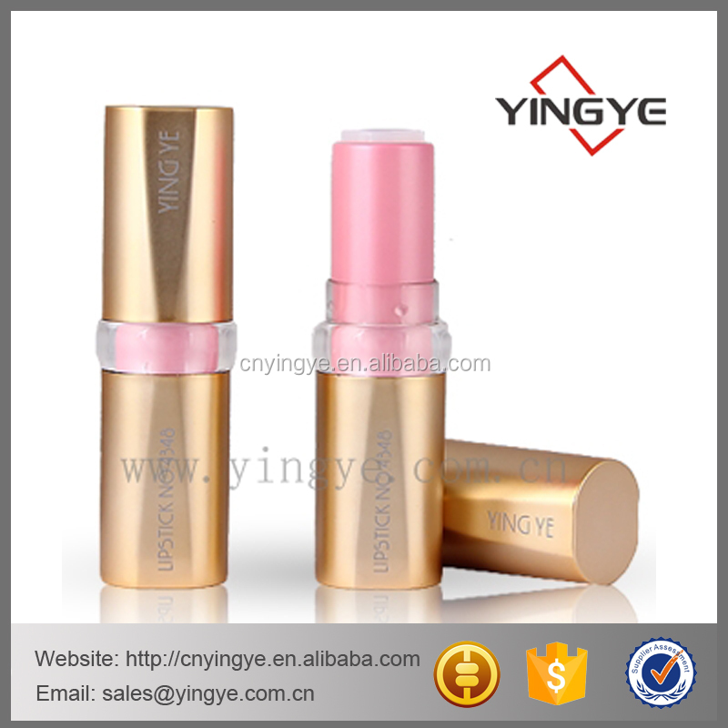 matte gold empty lipstick case lipstick container lipstick holder