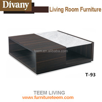 T-93 TEEM living room furniture interior design modern center table marble wooden coffee table