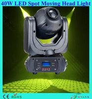 factory price 40W led GOBO Moving head spot light for nightclub bar dj disco stage light