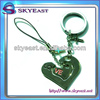 Promotional Love Metal Key Chains With Mobile Phone Straps