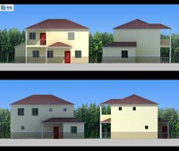 Luxury design smart strong structure two layer prefabricated buildings