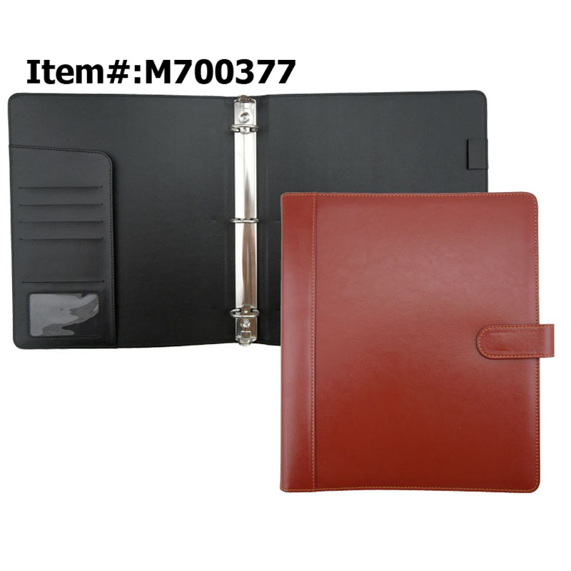 Faux Leather 3 Ring Binder Clipboard