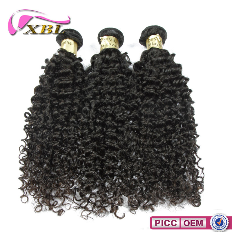 XBL hot sale new style human hair 100% virgin Malaysian curly weave