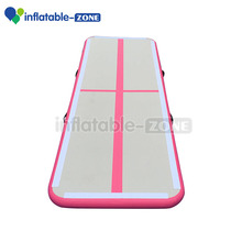 Pink color 3minflatable air tumble track, 3m inflatable air mat