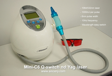 1064nm 532nm Medical EO active Q switch nd yag laser remove pigment and tattoo machine